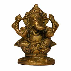 Ganesh Idol of Brass (pujabhandar)