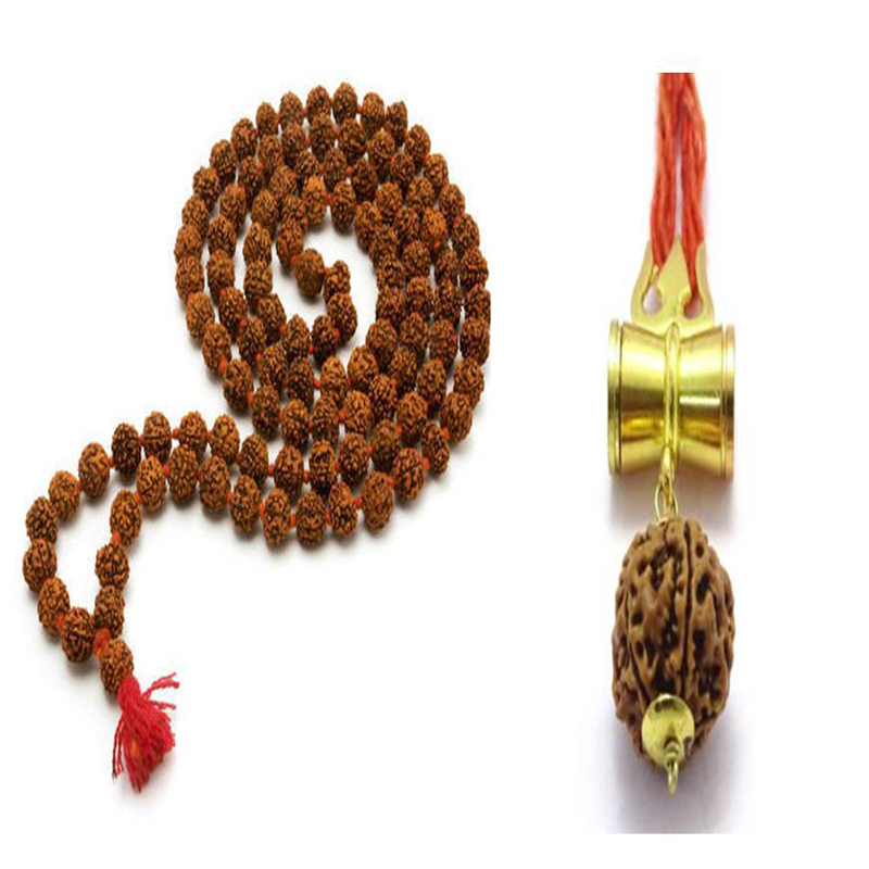 Rudraksha Mala and Shiv Shakti Locket