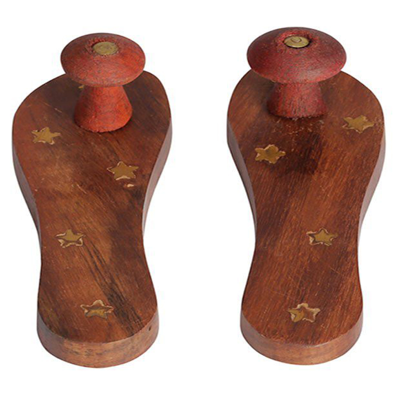 Puja Khadau Wooden Sliper, Small Size (Only for Puja Decoration)