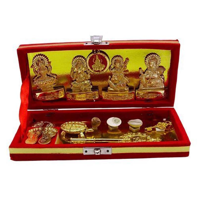 Shri Dhan Laxmi Kuber Kunji Yantra with Wooden Box Pack